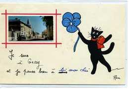79 - Je Suis à GEAY - Chat Noir De René - Andere Gemeenten