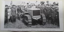 APRILIA -  TRACTEUR Autochenille FIAT (conduit Par Le Chef Du Pouvoir Italien à L'époque). - Coupure De Presse De 1936 - Tracteurs