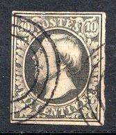 LUXEMBOURG - 1852 - N° 1 - 10 C. Gris-noir - (Guillaume III) - 1852 Wilhelm III.