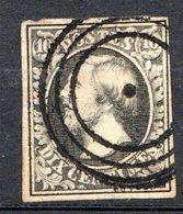 LUXEMBOURG - 1852 - N° 1c - 10 C. Noir Intense - (Guillaume III) - 1852 Guillaume III