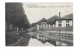 01  -  CPA  De  SAINT  RAMBERT  En  BUGEY  - Le  Quai  Des  Cités  Et  L ' Usine  De  Schapp - Other Municipalities