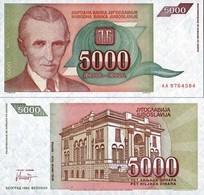 Billet Yugoslavie 5000 Dinar - Yugoslavia