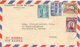 Peru Air Mail Cover Sent To Sweden - Peru