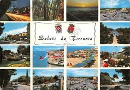Cartolina Tirrenia Vedute Timbro Targhetta PT 1971 - Pisa