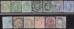 Belgie     .    OBP   .    11 Zegels     .      O      .       Gebruikt  .   /    .    Oblitéré - 1869-1883 Léopold II