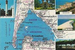 *CPM - 33 - LE BASSIN D'ARCACHON - Carte Et Multivue - Arcachon