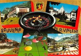 Cartolina Saint Vincent Vedute Roulette Casinò Hotel Biliia 1979 - Italia
