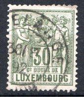 LUXEMBOURG - 1882-91 - N° 55 - 30 C. Vert-olive - (Allégorie) - 1882 Allegorie