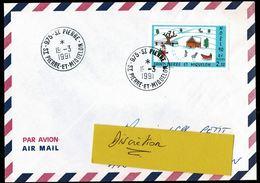 SAINT PIERRE MIQUELON Lettre Au Tarif 2,30  NOËL 90 Tàd  975 - SAINT PIERRE 19-3-1991  SUP  2 Scan - St.Pierre Et Miquelon
