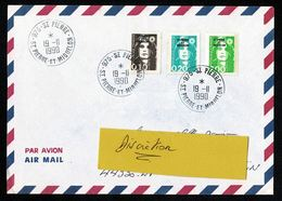 SAINT PIERRE MIQUELON Lettre Au Tarif 2,30 Composé Marianne Surcharge   Tàd  975 - SAINT PIERRE 19-11-1990  SUP  2 Scan - St.Pierre Et Miquelon