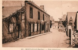 MONTAILLE  ( 72 ) - Rue Principale - France