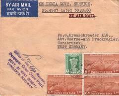 INDIEN - AIRMAIL 1960 - OSNABRÜCK /ak760 - India