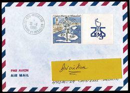 SAINT PIERRE MIQUELON Lettre Affr. 5,00F Sport Les 25 Kilomètres  Tàd  975 - MIQUELON 21-11-1990  SUP  2 Scan - St.Pierre Et Miquelon