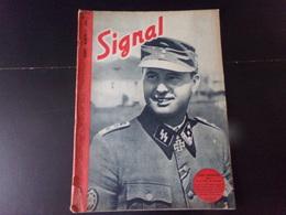 """Signal, Revue De Propagande Allemande N° 5, 1944, """" Léon Degrelle """" ( Déchirure Couverture ) - Revues & Journaux"""