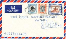 Sudan Air Mail Cover Sent To Switzerland 14-3-1958 Good Franked - Sudan (1954-...)
