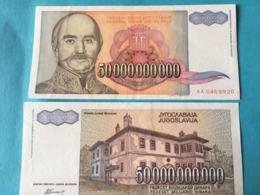 Billet Yugoslavie 50000000000 Dinar - Yougoslavie