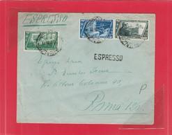REGNO 298 - Lettera Espresso, Viagg. Nel 1933 Da Firenze A Roma - Poststempel