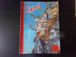 """Signal, Revue De Propagande Allemande N° 8, 1944, """" Dans Les Gorges Des Balkans """" - Revues & Journaux"""