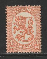 Suomi Finland - 1925 - RARE - Arms Of The Republic - Unwmk - Perf. 14 - MNH** - Nuovi