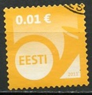 Estonie - Estonia - Estland 2011 Y&T N°634 - Michel N°682 (o) - 0,01€ Cor De Poste - Estonie
