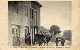 CARTE TRÈS RARE SAINT CIERGE LA SERRE ROUTE DE POUZIN BUREAU DE TABAC - Other Municipalities