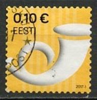 Estonie - Estonia - Estland 2017 Y&T N°(1) - Michel N°879 (o) - 0,10€ Cor De Poste - Estonie