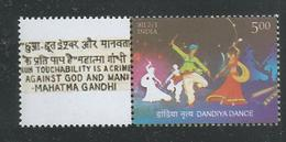 India 2016 Mahatma Gandhi My Stamp, Dandiya Dance, Gandhiji Slogan Untouchability, MNH, Ahmedabad Issue Inde Indien - Mahatma Gandhi