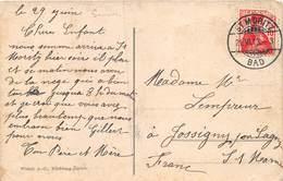 20-4609 : BEAU CACHET MANUEL. ST MORITZ. BAD 21 JUIN 1913 - Marcophilie