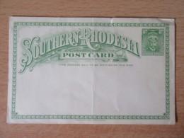 Rhodésie Du Sud / Southern Rhodesia - Entier Postal 1/2 D. écrit En Anglais En 1931 Mais Non-circulé - Rhodesia Del Sud (...-1964)