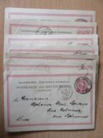 Allemagne / Empire Allemand - 7 Entiers Postaux Envoyés à Un Lapidaire Des Molunes (Jura) - 1885 à 1894 - Allemagne