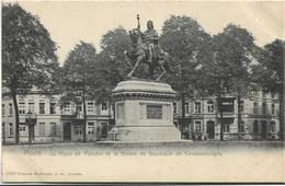 Mons   *  La Place De Flandre Et La Statue De Baudouin De Constantinople (Hoffmann) - Mons