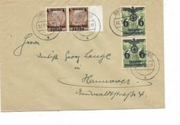 LE 0609. MI 1 (2)-19(2) GROUEC 12.7.40 S/Lettre Vers Hannovre. TB - 1939-44: 2ème Guerre Mondiale