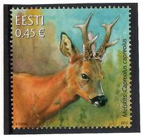 Estonia 2012 . Fauna. Roe Deer. 1v: 0.45.   Michel # 722 - Estonia