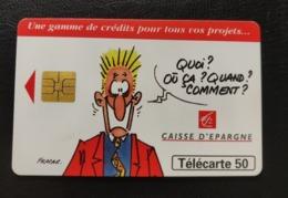 Telecarte France Publique 1996 Caisse D Epargne Credits Publicité Bande Dessinée - France
