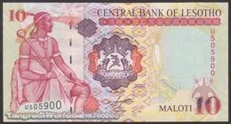 TWN - LESOTHO 15e - 10 Maloti 2007 Prefix U UNC - Lesoto