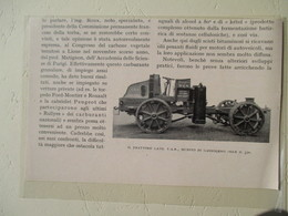 Transport Utilitaire - Tracteur Italien LATIL TAR   - Coupure De Presse De 1922 - Tracteurs