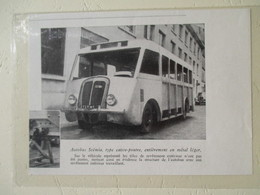 Transport Utilitaire - Autobus Scénia  - Coupure De Presse De 1940 - Tracteurs