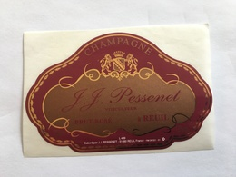 Ancienne Etiquette De Champagne JJ Pessenet Reuil Old Wine Label - Champagne
