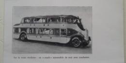 """Transport Utilitaire - Autobus Couchettes Américain """"Pickwick Stages System""""  - Coupure De Presse De 1940 - Tracteurs"""