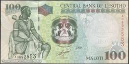 TWN - LESOTHO 19e - 100 Maloti 2009 Prefix AD UNC - Lesotho