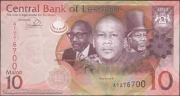 TWN - LESOTHO 21b - 10 Maloti 2013 Prefix AT UNC - Lesotho