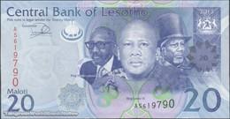 TWN - LESOTHO 22b - 20 Maloti 2013 Prefix AS UNC - Lesotho