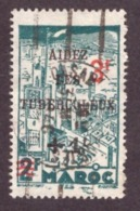 Maroc 1946 -  Yt N°240  3f + 1f - Used - Papier Blanc - Morocco (1891-1956)