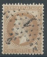 Lot N°54580  Variété/n°28A, Oblit étoile Chiffrée 1 De PARIS (Pl De La Bourse), Tache Blanche S De POSTES - 1863-1870 Napoléon III Lauré