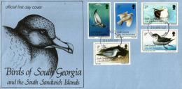 Goéland Dominicain, Pétrels,Prion Colombe,Chionis Blanc,etc. Oiseaux De Georgie Du Sud,South Sandwich Islands. FDC - Falkland
