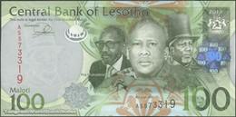 TWN - LESOTHO 24b - 100 Maloti 2013 Prefix AS UNC - Lesoto