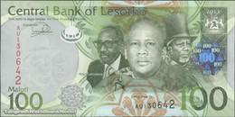 TWN - LESOTHO 24b - 100 Maloti 2013 Prefix AU UNC - Lesoto