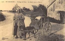 En Sologne - Attelage De Chien - Le Départ Pour Le Marché - Cecodi N'700 - Francia
