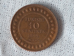 Tunisie 10 Centimes 1892 - Tunisia