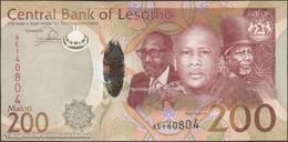 TWN - LESOTHO 25 - 200 Maloti 2015 Hybrid - Prefix AE UNC - Lesotho